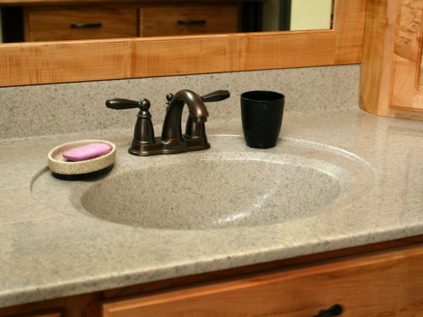 custom bathroom sink and soap dish