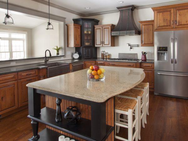 Cambria quartz kitchen island