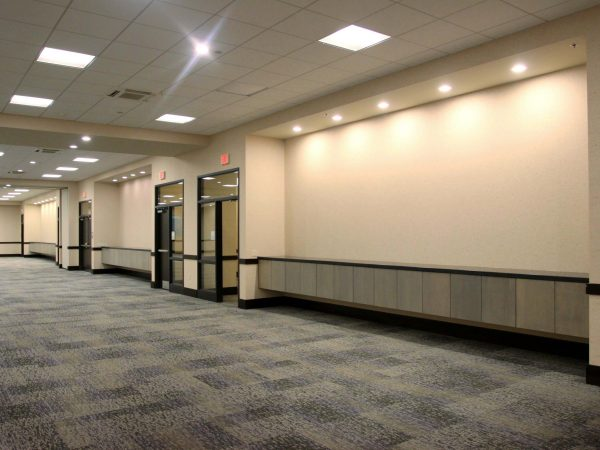 sports complex hallway