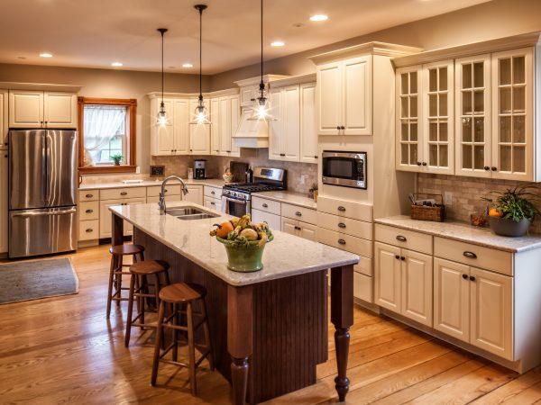white semi-custom kitchen cabinets