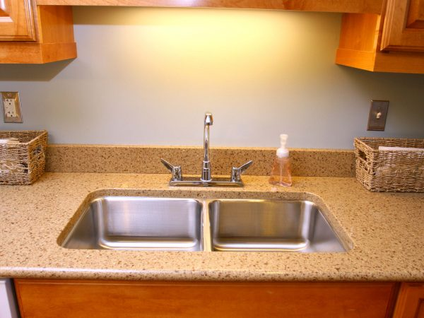 built in granite kitchen sink