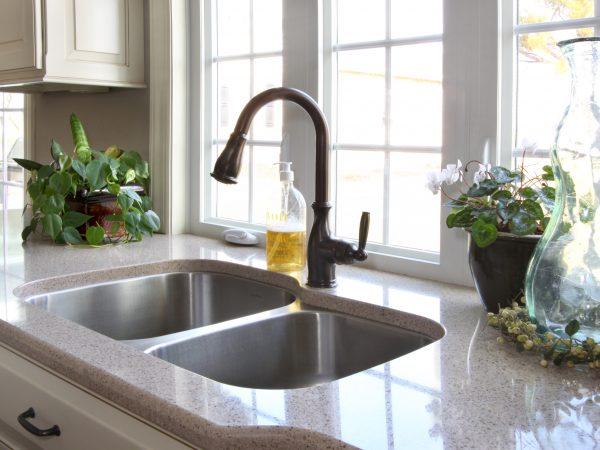 built in sink in new kitchen remodel
