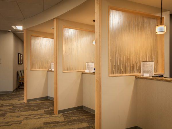 medical reception desks in granite