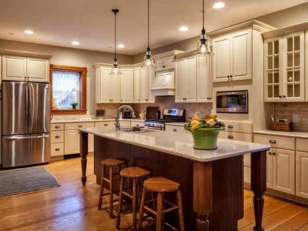 brand new cambria quartz countertops in kitchen