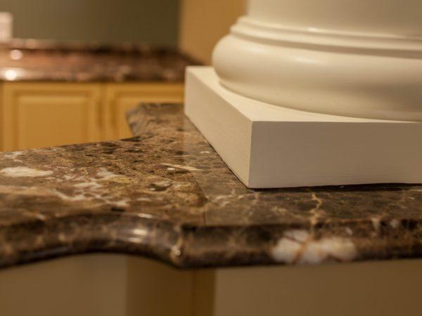 marble countertop installation at nursing home