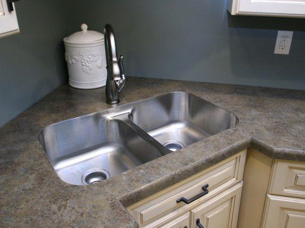 granite material around kitchen sink