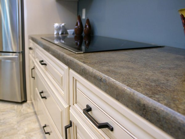 laminate countertops in newly remodeled kitchen