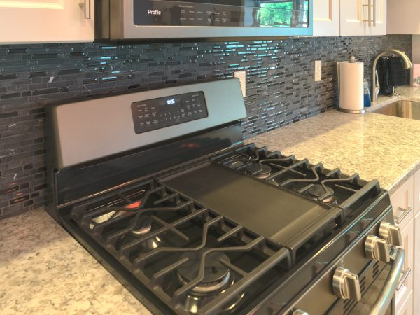 marble countertop beside kitchen stove
