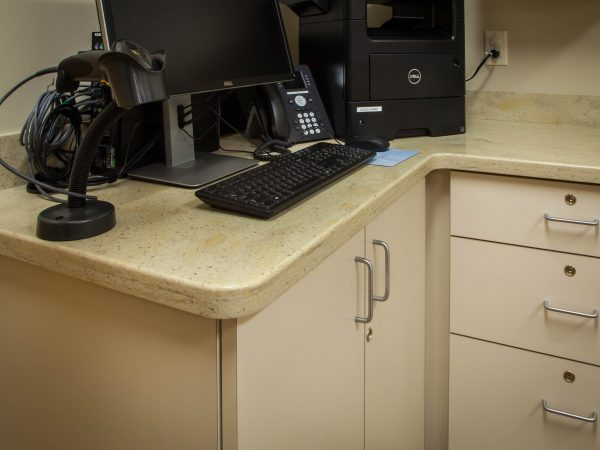 laminate medical office counter