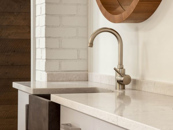 marble sink in orthodontist office