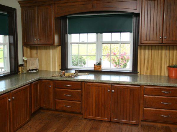 dark wood new kitchen cabinets