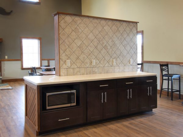 wooden cabinets for restaurant island