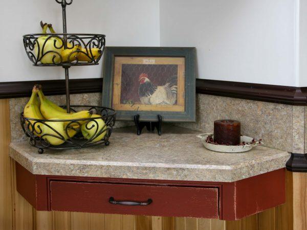 alcove corner with laminate counter