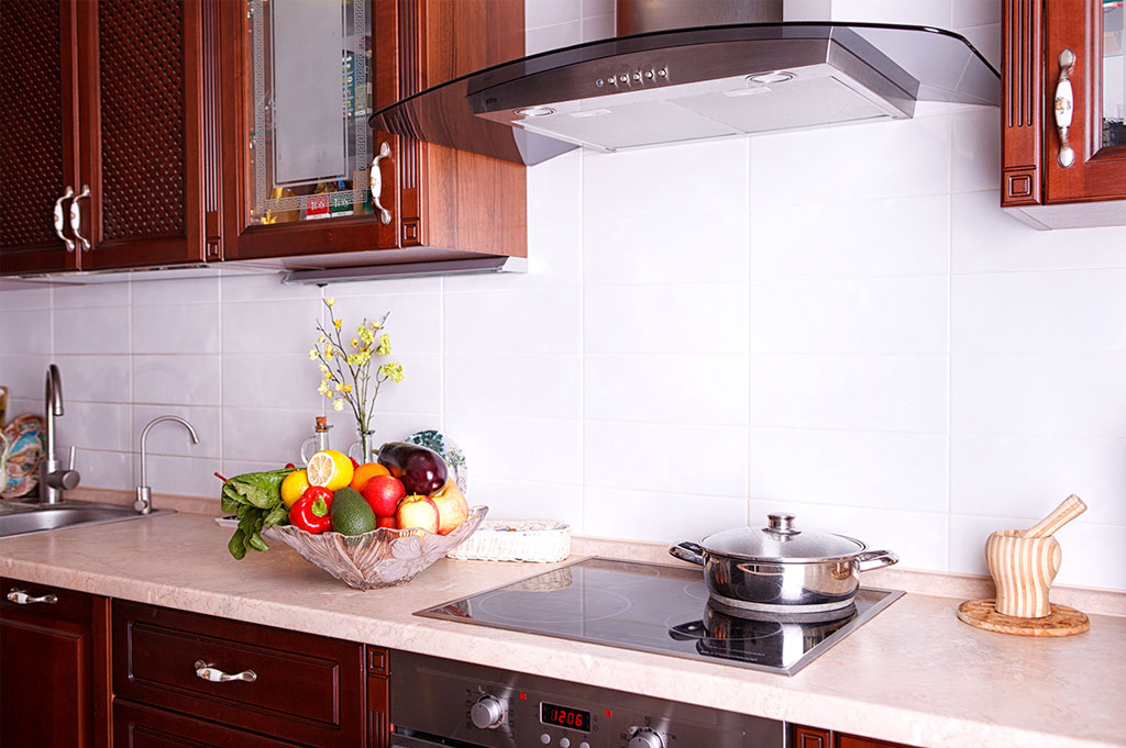 Laminate kitchen counters with gas stove