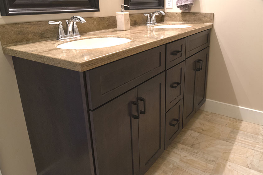 Poured Marble Countertops for Bathroom