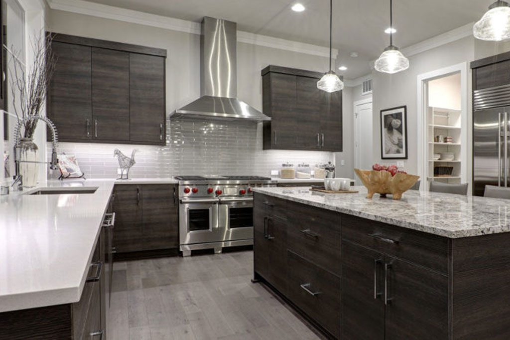 grayscale modern kitchen cabinets