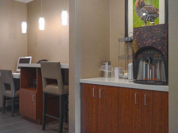 semi-custom cabinets in a hotel