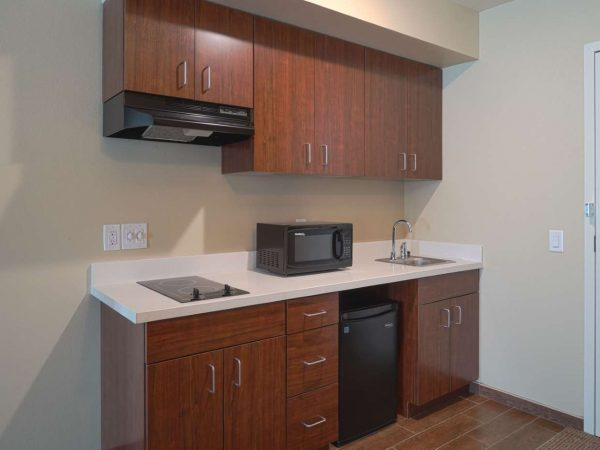 small kitchen suite cabinet and countertop