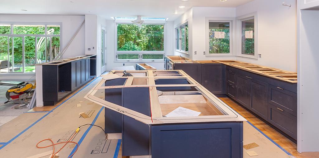 Home renovation kitchen countertops