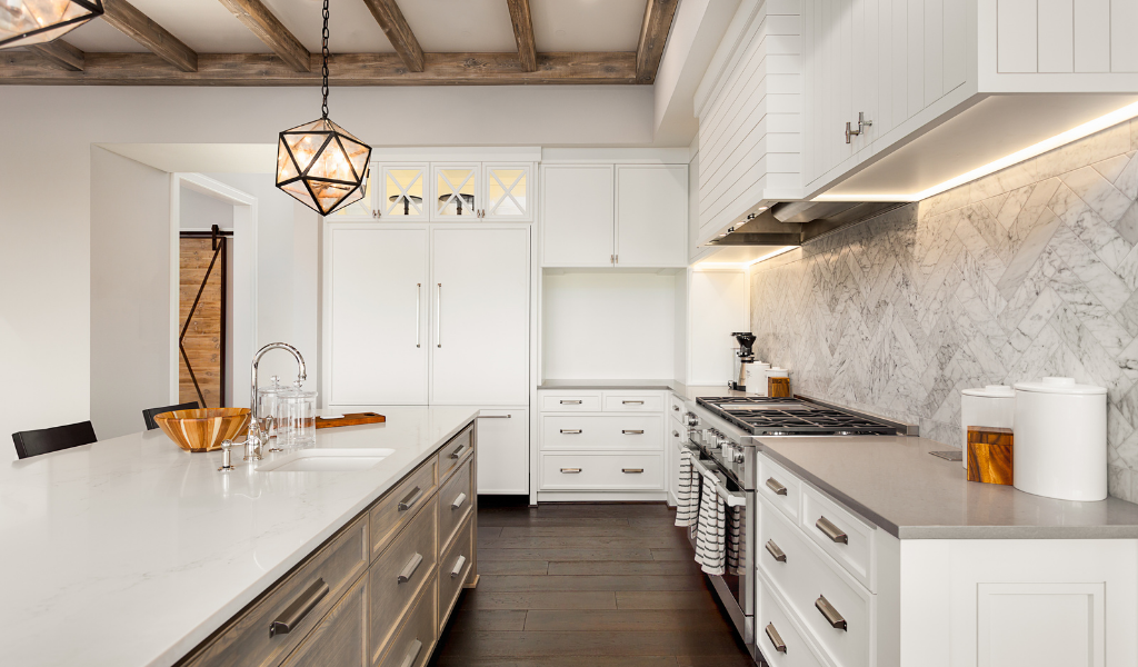 Exposed wood in kitchen design