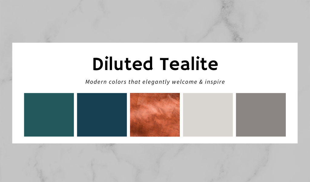 diluted tealite kitchen color schemes