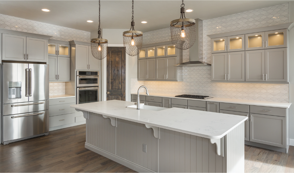 new kitchen remodel with soothing neutral color scheme
