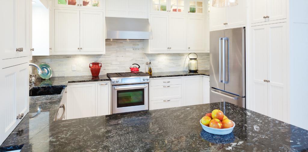 small granite kitchen countertop