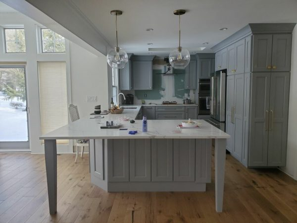 light blue kitchen remodel