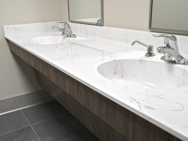 new quartz bathroom sink