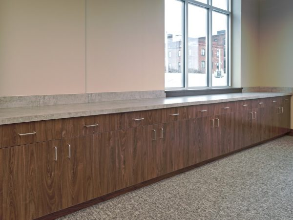 laminate countertop over wooden cabinets