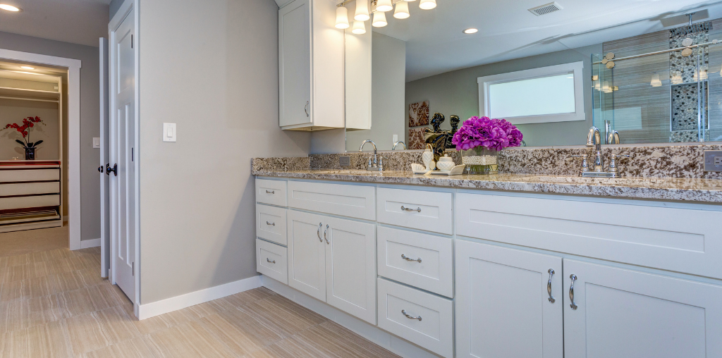 Bathroom countertop and cabinet installation in Chester County PA