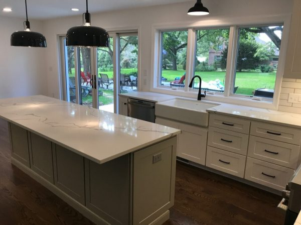 new quartz kitchen island in honey brook pa