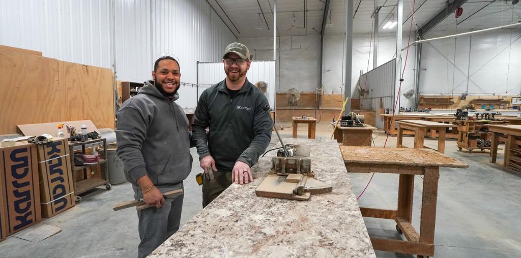 carpenters in kauffman kitchen workshop