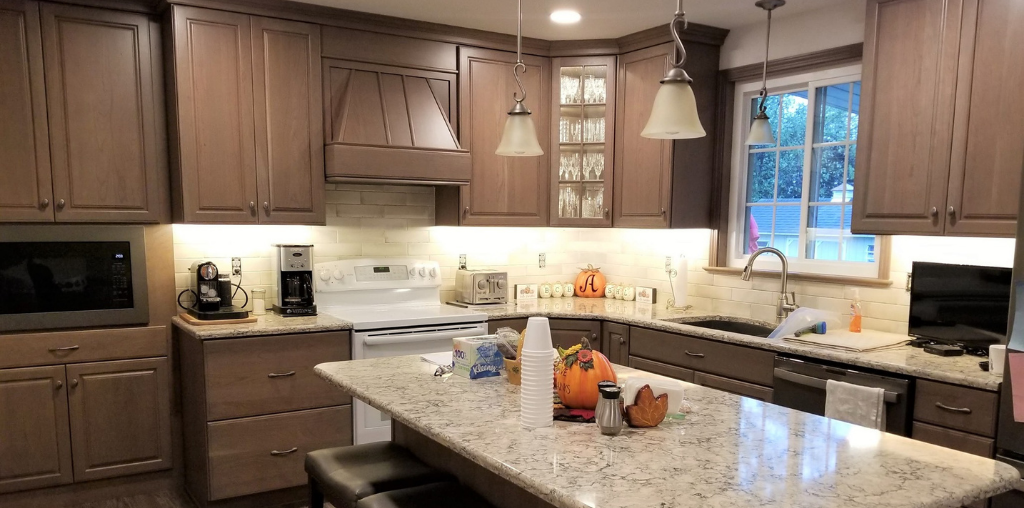 brown small kitchen remodel