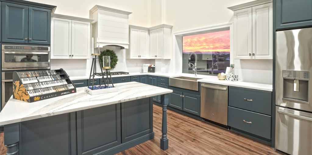 two toned kitchen makeover showroom display