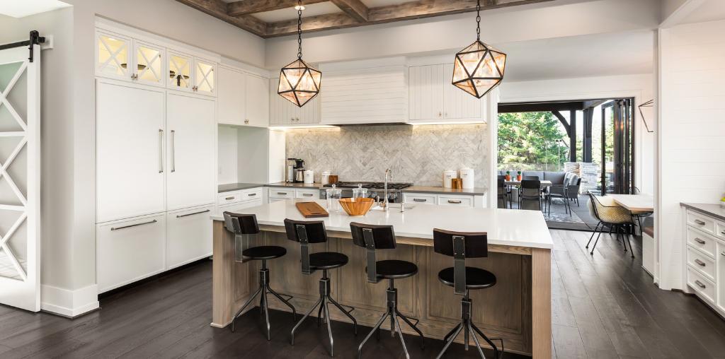 Upgraded lighting for modern kitchen design