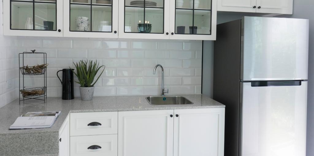 Light gray corian countertop color